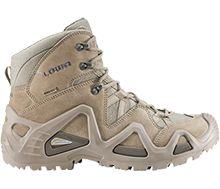 Zephyr Desert GTX Mid TF  Fast and Light Hiking Performance:  Lightweight, supportive, cushioned and stable, these comfortable boots suit the needs of most casual hikers. Ideal for on-trail adventures, over moderate terrain, supporting backpacks up to 25 pounds. Bonus: Zero break-in time!    •UPPER: Split leather/Cordura®.   •MIDSOLE: PU Monowrap® Frame, a new, patented construction technique that allows us to reduce overall boot weight while retaining important lateral stability.