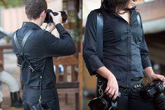 Alças de couro para até 3 máquinas fotográficas #blogwedding