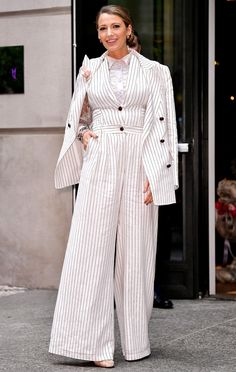 96c61462dc59 Ralph & Russo suit Blake Lively Street Style, Blake Lively Outfits, Suits  For Women