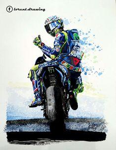 Valentino Rossi Logo, Valentino Rossi Yamaha, Motorcycle Art, Bike Art, Ducati, Mt 09 Yamaha, Motorbike Drawing, Vale Rossi, Motorcycle Wallpaper