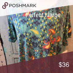 LuLaRoe perfect T Large floral nwt LuLaRoe Tops Tunics