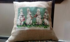 Hey, I found this really awesome Etsy listing at https://www.etsy.com/listing/127308080/burlap-easter-pillow-cover Can you say DIY? Love it. Easy peasy.