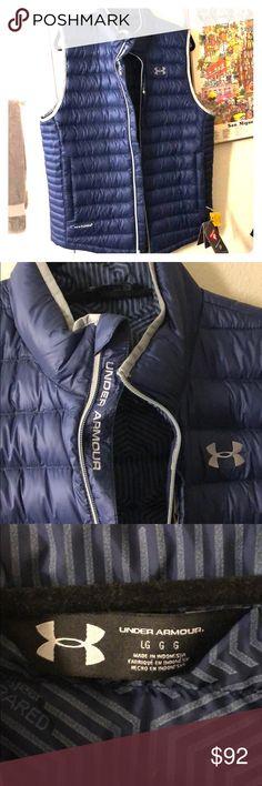Under Armour blue puffy men's vest *NBW* perfect condition men's Under Armour blue puffy vest Under Armour Jackets & Coats Vests