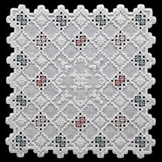 Hardanger See the pretty The Lattice Hardanger Doily at Nordic Needle - The doily size on 30 count linen is x This chart includes: stitching instructions, scans, text Types Of Embroidery, Embroidery Patterns, Hand Embroidery, Weave Styles, Hardanger Embroidery, Embroidery Supplies, Satin Stitch, Bargello, Cutwork