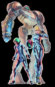 Metroid x Pacific Rim Crossover - Created by ZedEdge