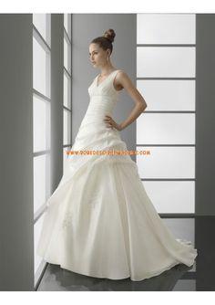 Robe de mariée 2013 organza taille empire col V