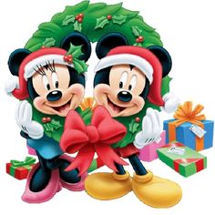 transparent mickey and minnie mouse png clipart Natal Do Mickey Mouse, Mickey Mouse E Amigos, Mickey E Minnie Mouse, Mickey And Minnie Love, Mickey Mouse Christmas, Mickey Mouse And Friends, Disney Mickey, Christmas Cartoon Characters, Walt Disney Characters