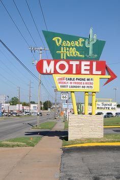 Desert Hills Motel, Route 66 - Tulsa, Oklahoma