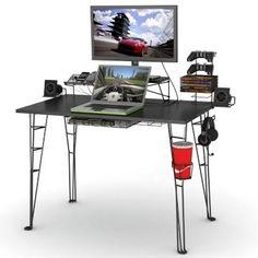 Gaming Desk In Black - Game Furniture - Game Furniture