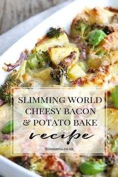 Super easy syn free cheesy bacon potato bake slimmingworld slimmingworldrecipe synfree synfreerecipe ultimate decks for outdoor living Slimming World Dinners, Slimming World Chicken Recipes, Slimming World Diet, Slimming Eats, Slimming Recipes, Slimming World Breakfast, Slimming World Lunch Ideas, Slow Cooker Slimming World, Slimming World Puddings
