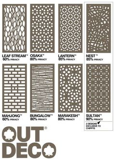outdeco panels - Timber Screening, Merbau Screening, Privacy Screens, D.I.Y Screens privacy panels