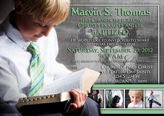 Baptism Invitation / Announcement, Customize, Printable, LDS Baptism Invitation, boy or girl. $15.00, via Etsy.