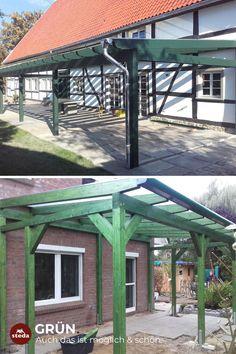 Schöne & Grüne Terrassenüberdachung aus Holz. Natürlich von steda!