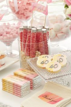 Pink 40th Birthday Party Theme | CatchMyParty.com