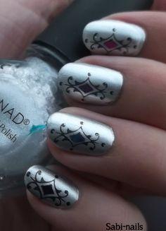 Day 8: metallic nails