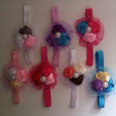 Ribbon Rose Headbands