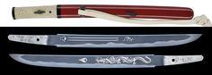 Dimensional shortskin felirata Norihira Sensei Juice Heisei korszak augusztus 6 Junji Nincs vizsgálat kardfűrész kötés piros lakk hüvely 拵