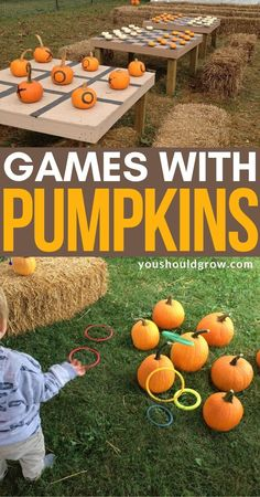 If you're planning a fall festival, I've gathered a bunch of ideas to make fun use of pumpkins for kids' parties. Throw the best fall party ever with these fun ideas for pumpkin games for the kids. Pumpkin Patch Birthday, Pumpkin Patch Party, Pumpkin Patches, Pumpkin Patch Kids, Kool Aid, Fall Festival Party, Harvest Festival Games, Fall Festival Activities, Fall Festival Decorations