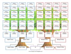 Tracks all the way to great-great grandparents for both adoptive and biological families with this adoption family tree. Free to download and print