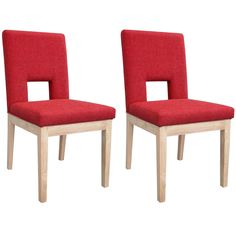 Red Contemporary Dining Chairs See our fabulous collection of dining room chairs, in every single colour of the rainbow and in different fabric and styles www.uniquechicfurniture.co.uk