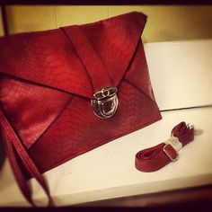 Red fashionable clutch - $18.99