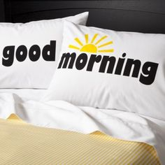 What a great way to wake up - Good Morning Pillowcases Set of 2. #TargetCollege