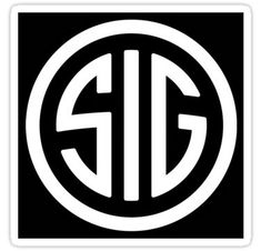 'Sig Sauer Logo' Sticker by bradNdallas Revolver Rifle, 1911 Pistol, Trademark Symbol, Furniture Logo, Furniture Stores, Sig Sauer, Logo Sign, Logo Sticker, Transparent Stickers