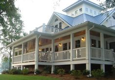 Southern Charm - tin roof, wrap around porch, balcony. perfect.