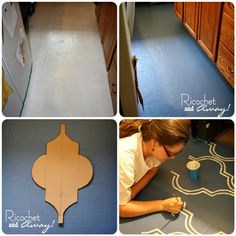 Can you paint a vinyl kitchen floor? Should you paint a kitchen floor? How do you paint a kitchen floor? Would painting the floor b. Vinyl Flooring Kitchen, Hall Flooring, Linoleum Flooring, Diy Flooring, Flooring Ideas, Plywood Subfloor, Painted Vinyl Floors, Floor Stain, Diy House Projects