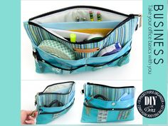 Keep Mom organized! By loading up all her essentials into this multi-pocket pouch, all she needs to do when she changes bags is to switch the organizer from one to the other. It also makes it much easier to find those essentials. Diy Bags Purses, Cute Purses, Purse Organizer Tutorial, How To Make Purses, Sewing Lessons, Purse Organization, Fabric Bags, Leather Purses, Leather Bag