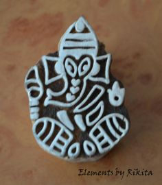 Vintage Lord Ganesha Design Fabric Stamp by ElementsbyRikita, $9.00