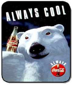 This print ad is a very typical ad for coke because the polar bear is there main sign. All there commercials involve the polar bears. Coca Cola Vintage, Vintage Ads, Vintage Signs, Retro Ads, Vintage Humor, Coca Cola Santa, Coca Cola Christmas, Coca Cola Polar Bear, Propaganda Coca Cola