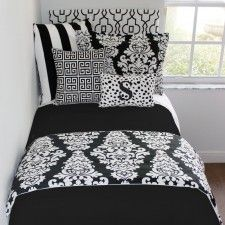 Custom dorm bedding packages from Cute dorm room bedding sets complete with throw pillows, duvet cover, bed skirt, headboard and more. Each dorm xl bedding set is a full dorm room look! Twin Xl Bedding Sets, Teen Girl Bedding, Dorm Room Bedding, Teen Girl Bedrooms, College Bedding, Tour Eiffel, Preppy Dorm Room, Teen Room Makeover, White Headboard