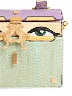 giancarlo petriglia - women - top handles - mini peggy eyes elaphe & leather bag