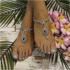 Irish wedding barefoot sandals in emerald green. One of a kind design. Beautiful is perfect word to describe our emerald green rhinestone silver barefoot sandals. Perfect for Irish themed weddings. Th