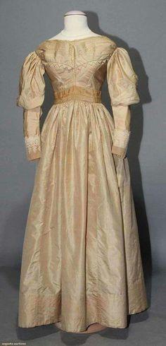 1830 silk dress.
