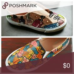 Custom painted shoes. Let's talk and make it happen. Shoes