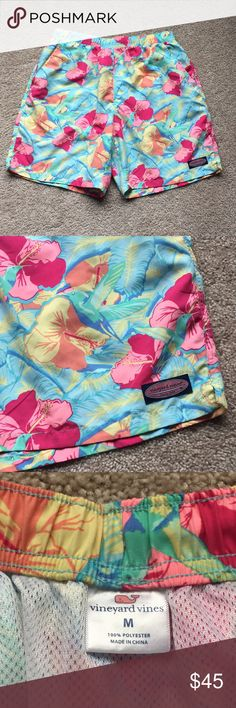 67eefd5682 Shop Men's Vineyard Vines Blue Yellow size M Swim Trunks at a discounted  price at Poshmark. Built in mesh underwear and pockets !