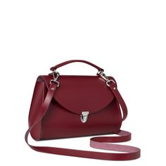 "Cambridge Satchel Company's Poppy Bag in ""Rhubarb Red"" Leather"