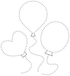 Baloniki, Rysowanie po kropkach do druku