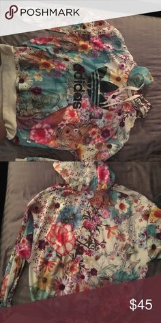 Adidas Floral Hoodie Barely worn floral Adidas hoodie! No stains or tears! Only ever dry cleaned! Such a cute hoodie for the fall or spring! adidas Tops Sweatshirts & Hoodies