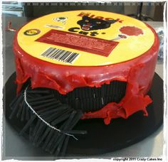 Black Cat Firecracker Cake...this is so freaking cool!!!