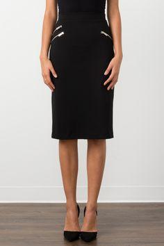 Suzy Shier Midi Pencil Skirt