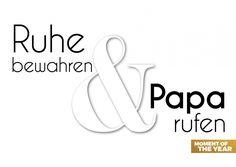 Ruhe bewahren & Papa rufen | Weisheiten | Echte Postkarten online versenden | MyPostcard.com