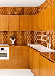 all wood kitchen in modern home of serge castella. / sfgirlbybay