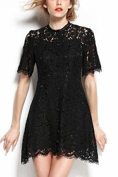 black lace dress #lbd