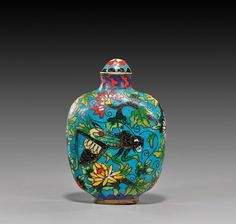 Chinese Cloisonné Enamel Snuff Bottle