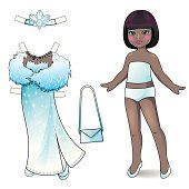 Paper doll. Princess collection.