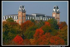 Old Main and the beautiful fall foliage of Fayetteville...