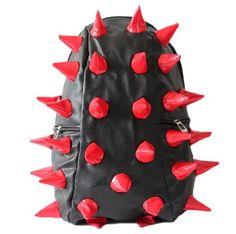 Fashionwu Personalized Unisex Hedgehog Spike Punk Bag Backpack (Red)